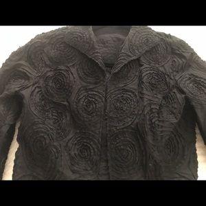Black jacket. Cotton with swirl pattern